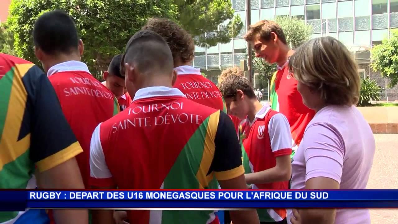 Les U16 de rugby monégasque partent en Afrique du Sud
