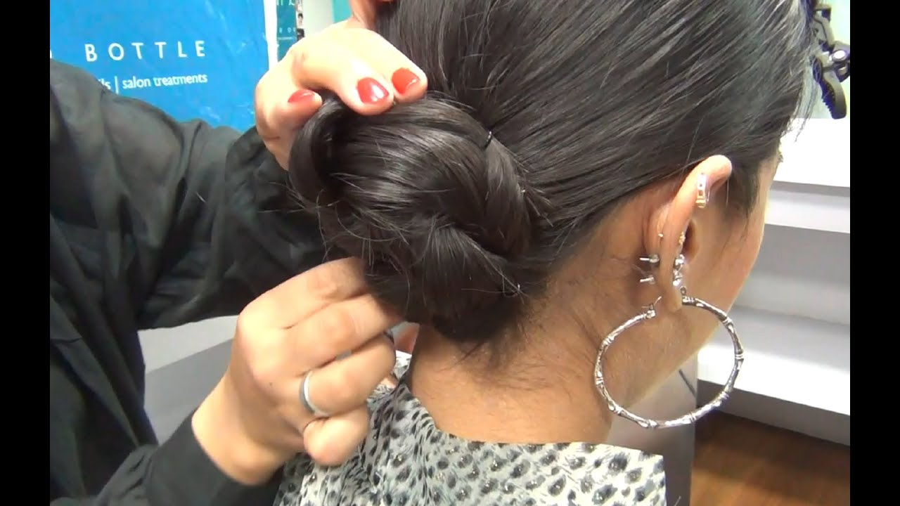hair tutorial   twisted bun diy   youtube