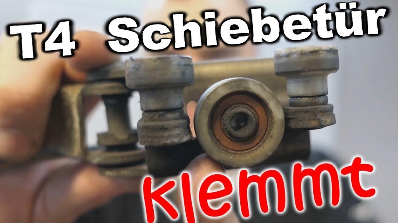 Popular T4 Schiebetür Scharnierrollen ausbauen - Schiebetür Rollenführung QS26