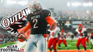 How was this play a Touchdown? Ozark State Outlaws NCAA 14 Team Builder Dynasty Ep. 5