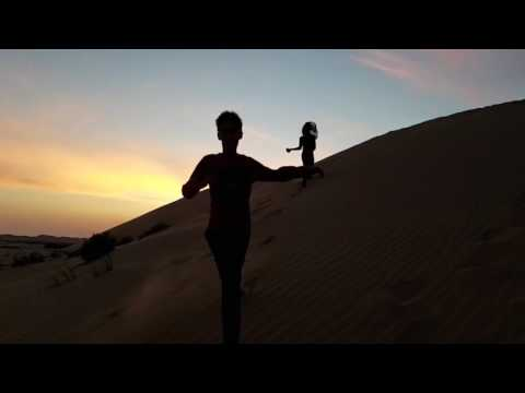 The Dunes in Abu Dhabi.  Running the sunset, surfing  the dawn.
