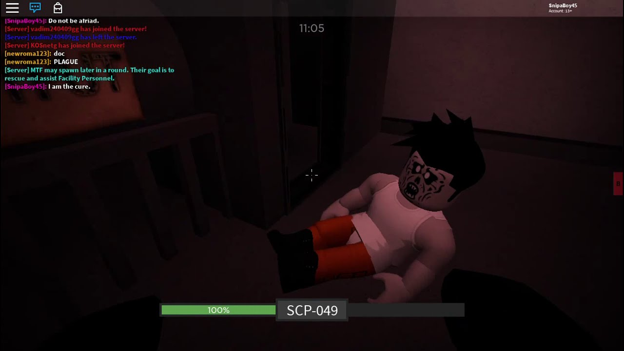 Scp 049 Gameplay Roblox Scp Rbreach Youtube
