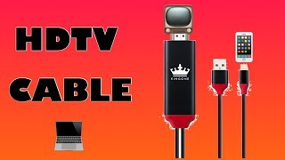 KINGONE 6ft 1080P Lightning to HDMI Cable ( Review/Setup )