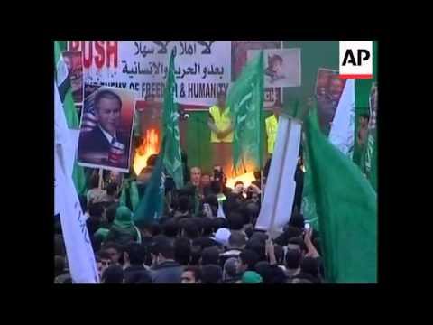 Hamas Rally, US Flags Burned, Israeli Right-wing Rally, Israeli Arabs