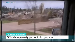 Officials say ninety percent of city spared after wildfire, Tetiana Anderson reports