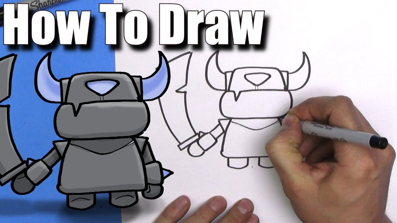 How To Draw Mini Pekka From Clash Royale Easy Chibi Step By Step Kawaii