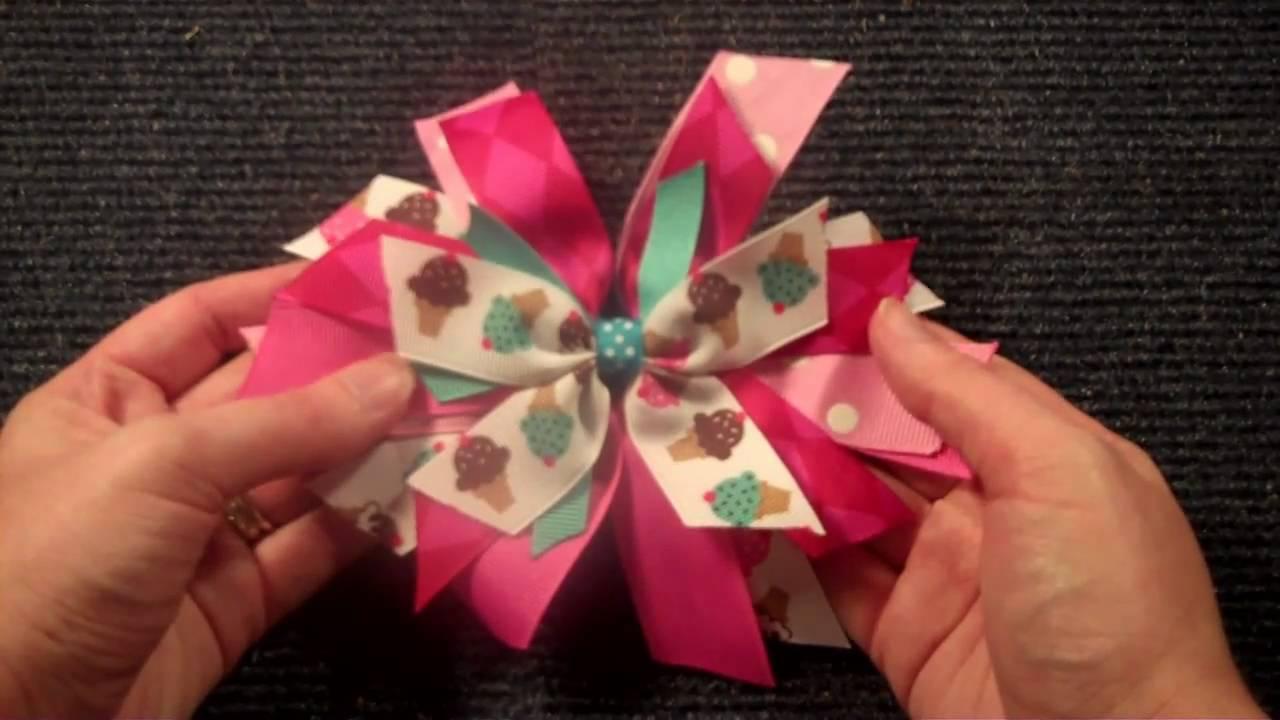 pinwheel style hairbow tutorial