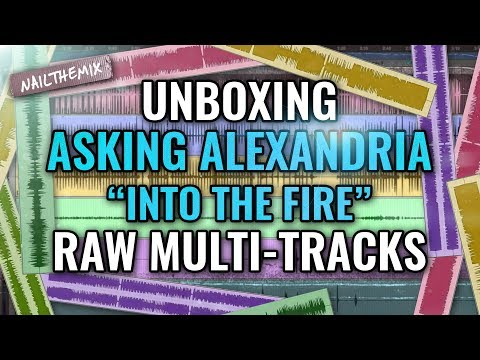 UNBOXING Asking Alexandria Into The Fire raw multitracks
