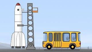 Großbau für Kinder - Die Rakete - Deutscher Cartoons für Kinder