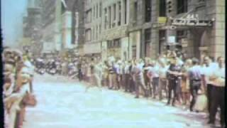 Apollo 11 astronauts in parade, 1969 New York City - 8mm home video, no audio.