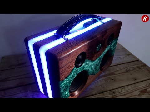 DIY  Epoxy Resin Wifi Bluetooth Speaker
