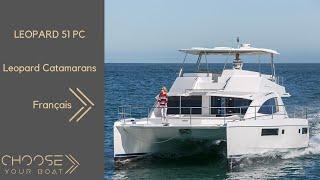 Leopard 51 PC (Power Catamaran) Vidéo de Visite Guidée (en Français)