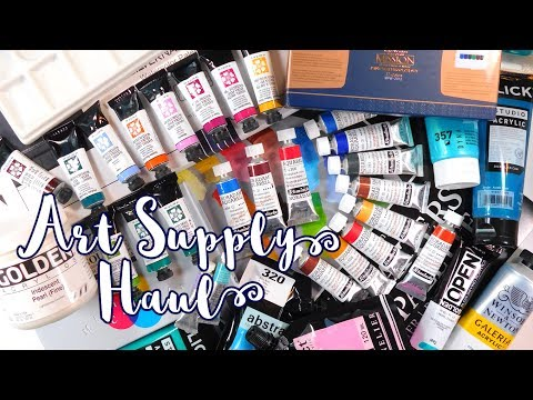 ART SUPPLY HAUL - Markers, Watercolors, Brushes + More! - MissKerrieJ -
