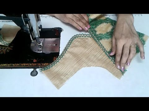 very simple and easy blouse back neck designs cutting and stitching