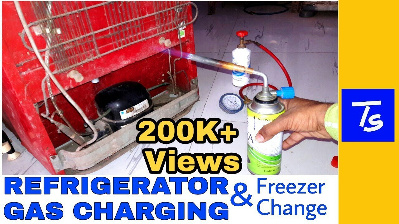 Refrigerator Gas Charging And Fridge Repair R134a