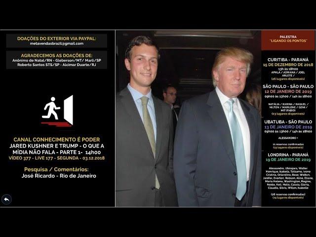 VÍDEO 0377 - Jared Kushner  e Trump e o que a mídia não fala - 21h