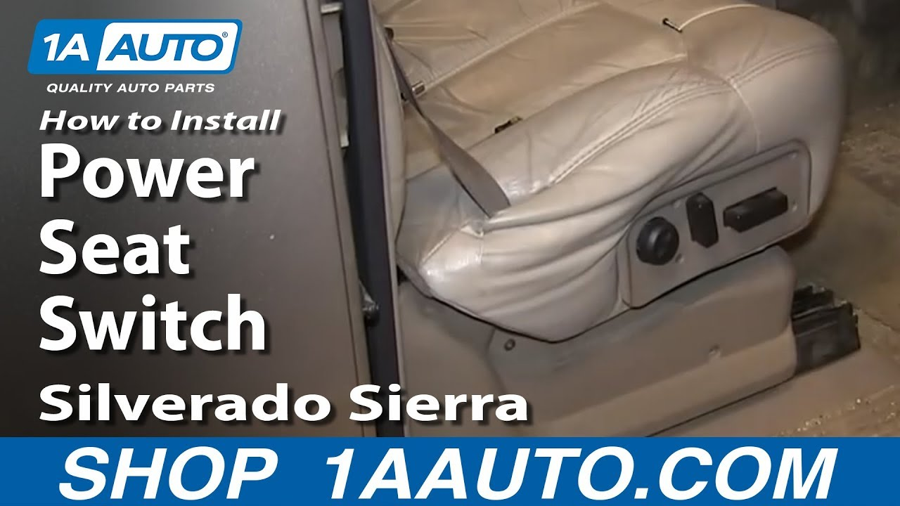 hight resolution of how to install replace power seat switch 2000 06 silverado sierra suburban tahoe yukon