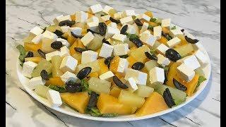 Потрясающе Свежий САЛАТ С ХУРМОЙ Без Майонеза Ооочень Вкусно!!! / Persimmon Salad Recipe