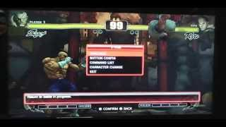 Playstation 3 Playing Street Fighter 4 with Custom Soundtrack MP3 music using PS3 XMB.