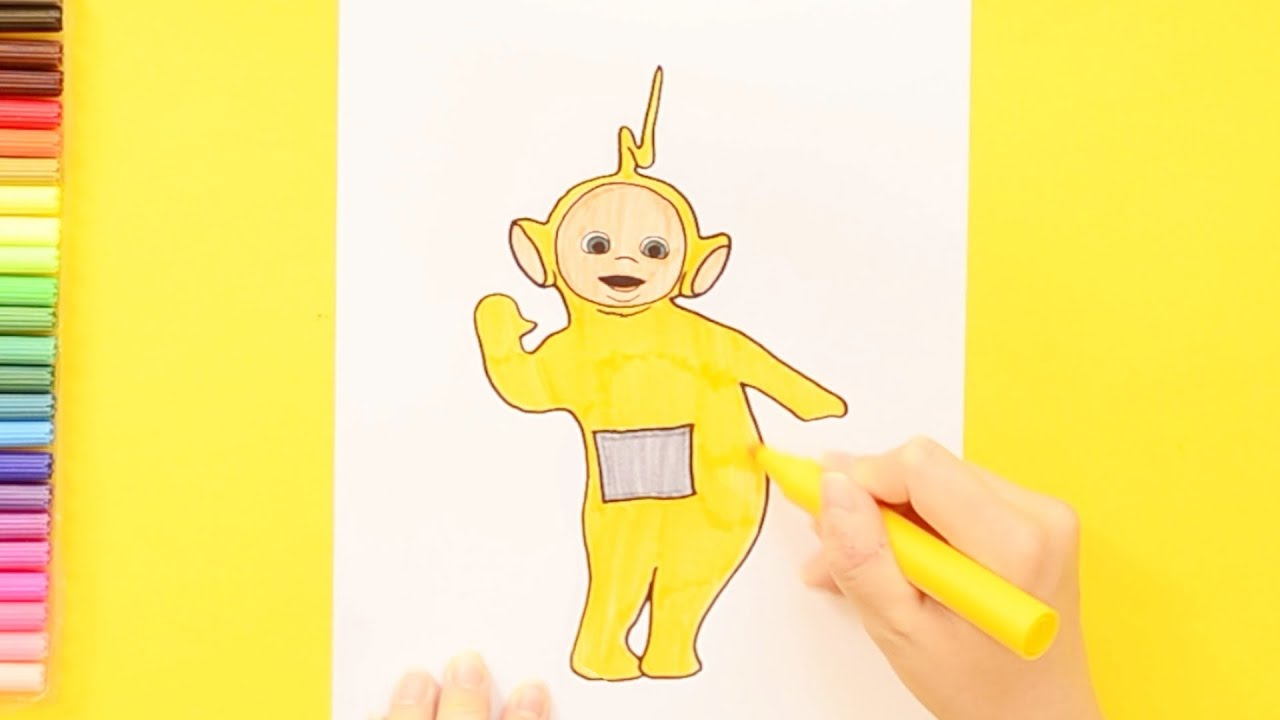 How To Draw Teletubbies Laa Laa