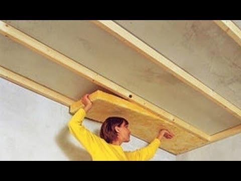 Как уложить утеплитель на потолок изнутри помещения