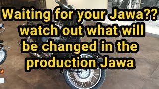 JAWA Production bikes will have these changes