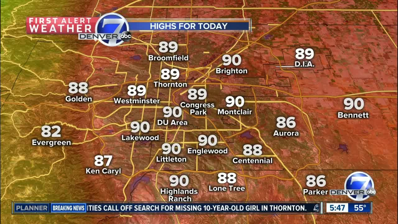 More sunshine, warm weather around Colorado Springs before first day of summer