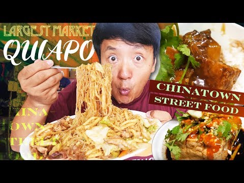 Binondo CHINATOWN Street Food & LARGEST Market (Quiapo) in Manila Philippines Local Food Tour