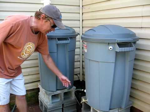 Our Back Yard 5 Rain Barrel System Youtube