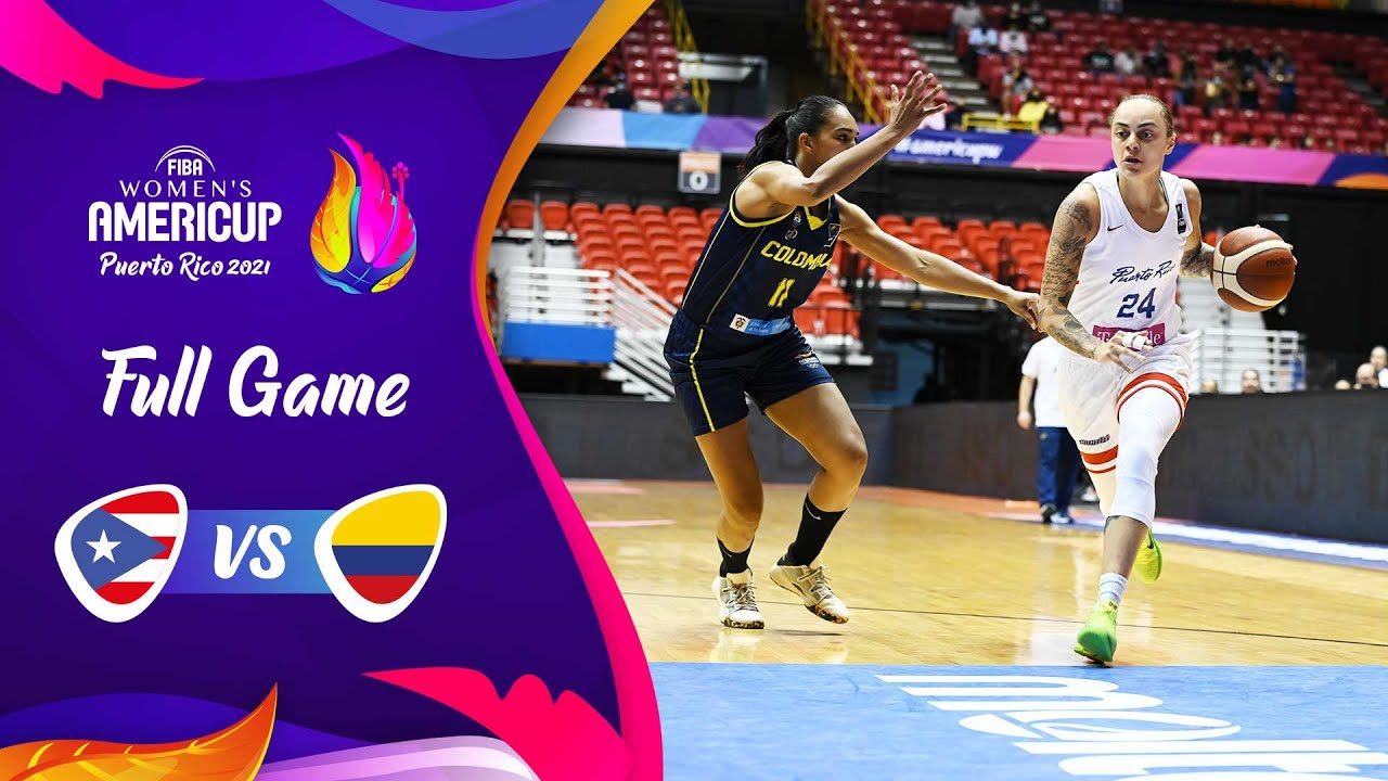 QUARTER FINALS: Puerto Rico v Colombia | Full Game - FIBA Women's AmeriCup 2021