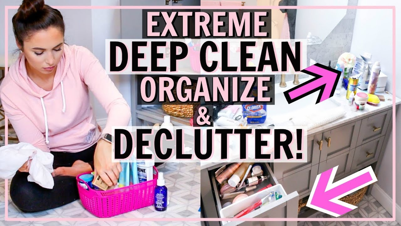 Organize And Deep Clean My Bathroom With Me Bathroom Declutter Ultimate Cleaning Motivation