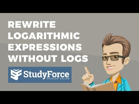 📚 How to rewrite logarithm expressions without logs