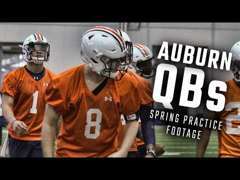 Watch Joey Gatewood, Jarrett Stidham And The Auburn QBs Run Drills During Day 1 Of Spring Practice