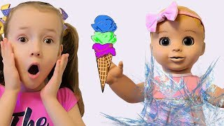 Ulya Pretend Play Selling Ice Cream in Toy Store