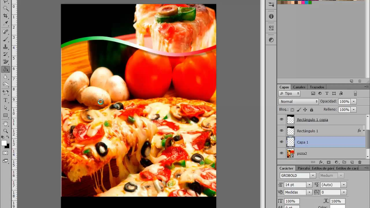 Photoshop Menu Pizzeria tipo Flyer by Yanko0 - YouTube