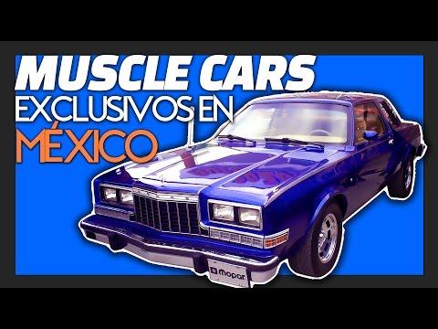 5 Muscle Cars Exclusivos de México