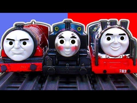 Thomas & Friends Steelworks Thomas Tank Hurricane & Merlin The Invisible Trackmaster Train Crash