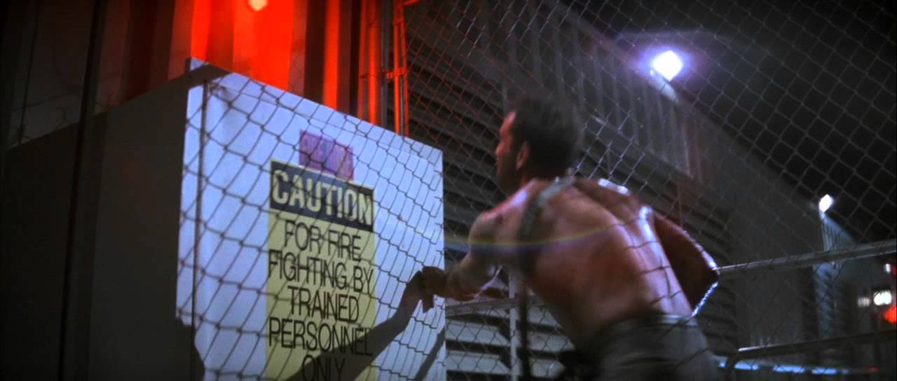 Die Hard Rooftop Scene Youtube
