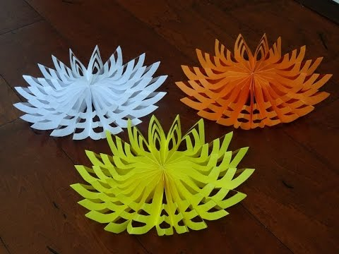 How to make decorative items with paper for christmas