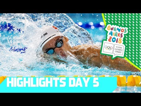 Athletics' action & Swimming stars on day 5 | YOG 2018 Day 5 | Top Moments