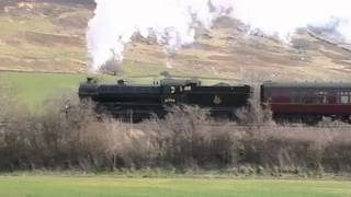 61994 & 61264 hauling 'The Esk Valley' 22-03-2014