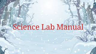 Science Lab Manual : Experiment to determine ph  value