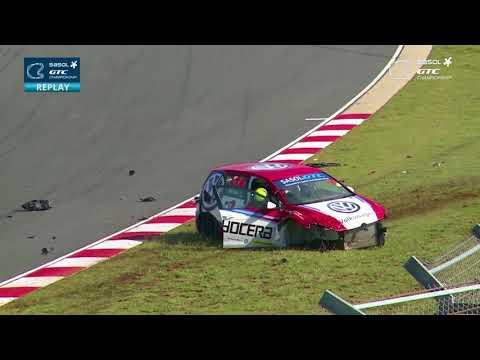 GTC Africa Series 2018. Race 2 Kyalami Grand Prix Circuit. Adrian Wood Hard Crash