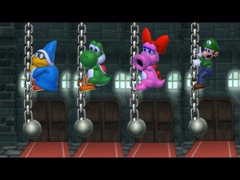 Mario Party 9 Garden Battle -  Kamek vs Yoshi vs Birdo vs Luigi| Cartoons Mee