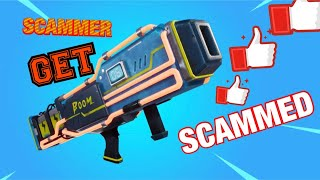 Constipated SCAMMER GET´S SCAMMED FOR *(20)* NOBLE LANCHERS (fortnite save the world)