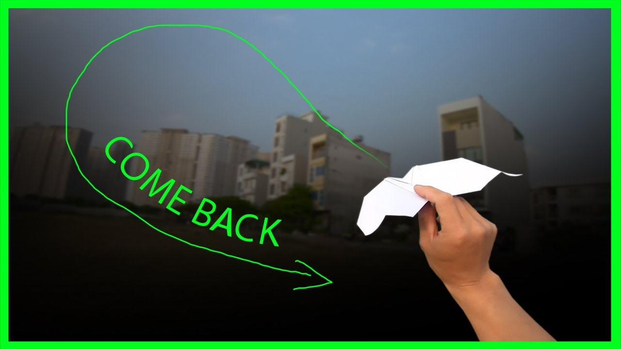How to make paper airplane come back easy | boomerang plane king