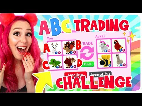 I TRIED THE ABC TRADING CHALLENGE IN ADOPT ME FOR 24 HOURS!! NEW Roblox Adopt Me Trading Challenge!