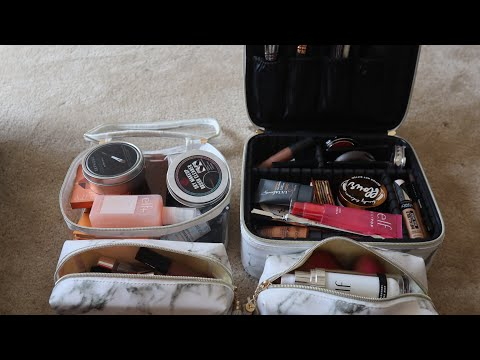Pack my travel makeup bags with me✈️🚙 thumbnail