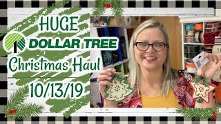 HUGE Christmas Haul // Upcoming Christmas Crafts // Giveaway Opp (CLOSED) // #dollartreehaul