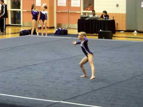 Level 7 Gymnastics floor routine - YouTube